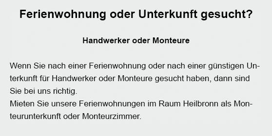 Monteurzimmer aus  Wiernsheim